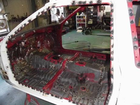 AE86フルスポット ドア開口部補強
