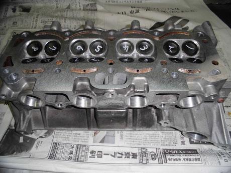 AE86 4AG ヘッド面研