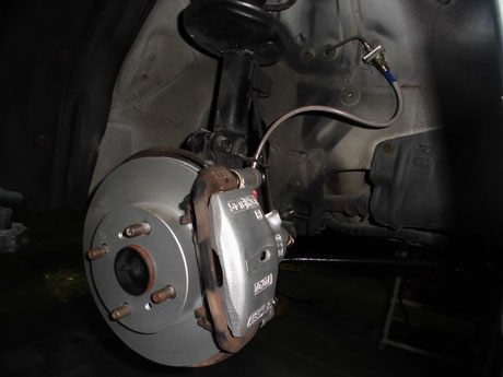 AW11 MR2 ブレーキローター交換