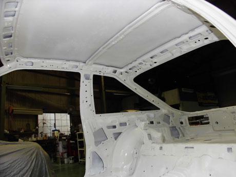 AE86 トレノ 室内ルーフ塗装