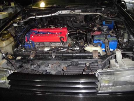 AE92エンジン交換