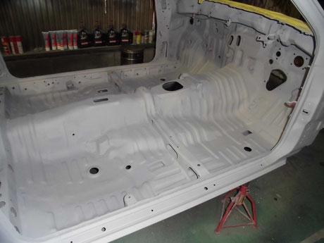 AE86 室内塗装 プラサフ