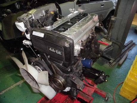 AE86トレノ エンジンオイル漏れ修理