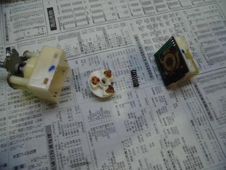 AW11 MR2 ヘッドライトスイッチ分解