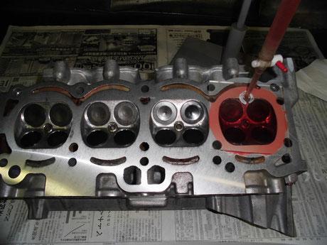AE86 燃焼室容積測定