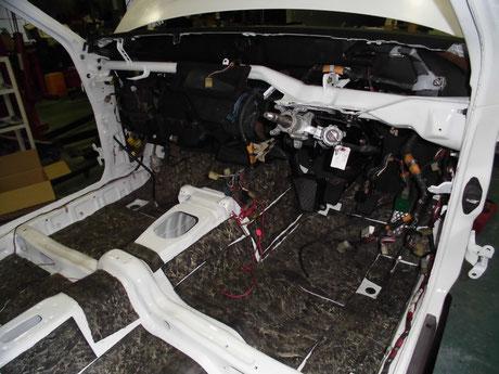 AE86 ステアリングシャフト取り付け