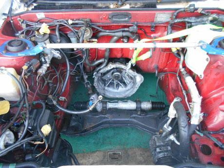 AE86 エンジンルーム洗浄