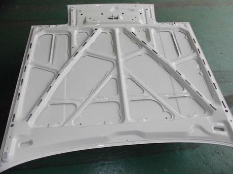 AE86 トレノ ボンネット裏 クリヤ塗装