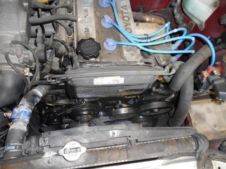 AE86 エンジンオイル漏れ修理