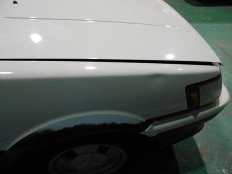 AE86レビン レストア フロントフェンダーの凹み