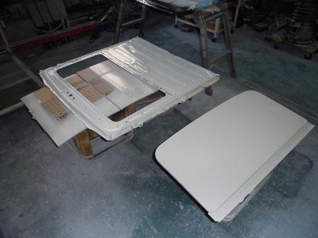 AE86 トレノ サンルーフ塗装