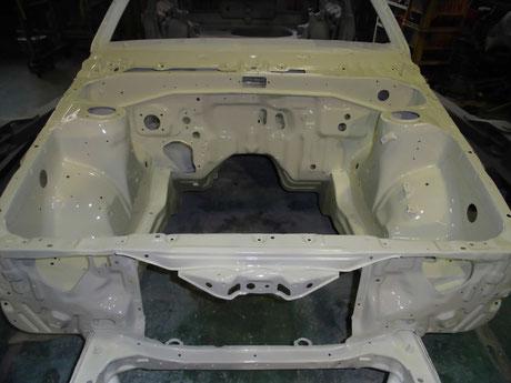 AE86 トレノ エンジンルーム クリヤ塗装