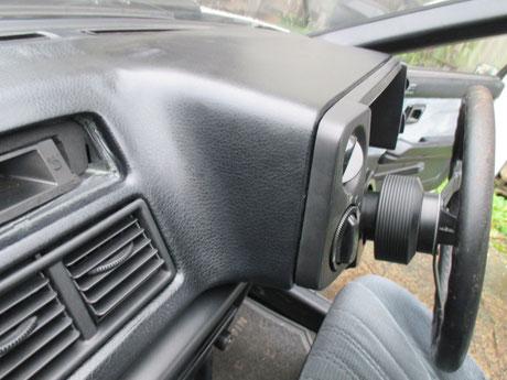 AE86 ダッシュボード修理レザーシート貼り付け