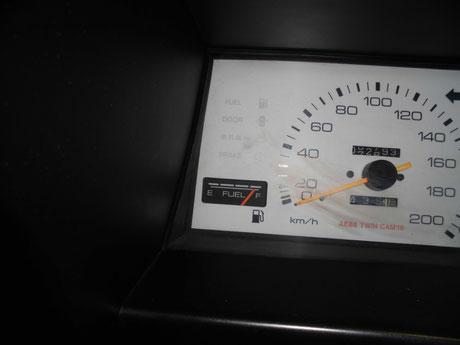 AE86 レビン 燃料計修理