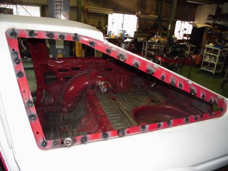 AE86  クォーターガラス開口部補強