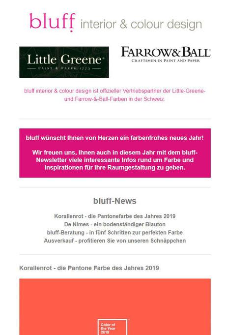 Newsletter September 2019 Bluff Interior Colour Design