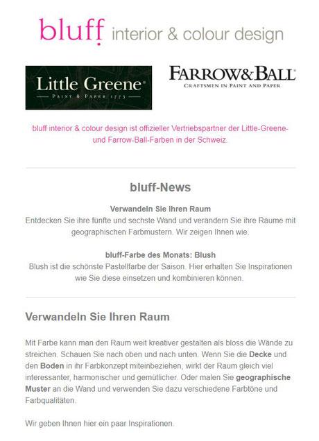 newsletter Juli 2018 - bluff interior & colour design, Farbberatung ...