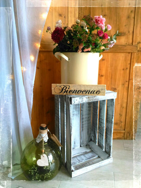 location decoration mariage vintage champetre le mans sarthe caisse a pomme dame jeanne