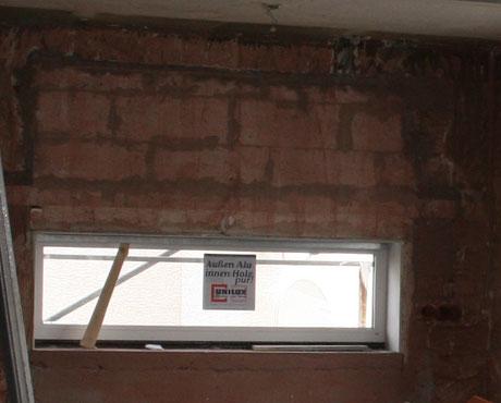 Fensterlaibung durch zumauern verkleinert