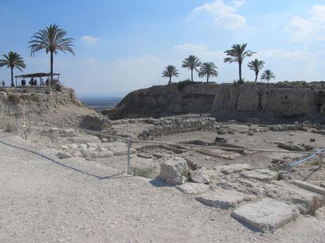 Археологическая траншея с реставрированными находками