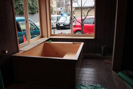 工事中のお風呂