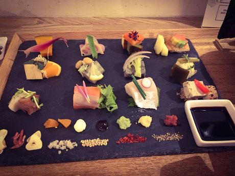 全て京都の材料を使った手織り寿司