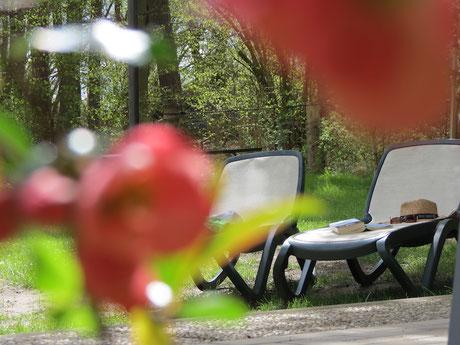 Urlaub in der Stille, Ruhe, Erholung, Sonnenliegen