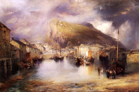 Thomas Moran  'An English Fishing Village' (1907)