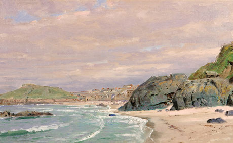 William Trost Richards  'Porthmeor Beach, St Ives'  (1878)