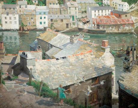 W H Dudley  'Old Polperro' (Wolverhampton Art Gallery)