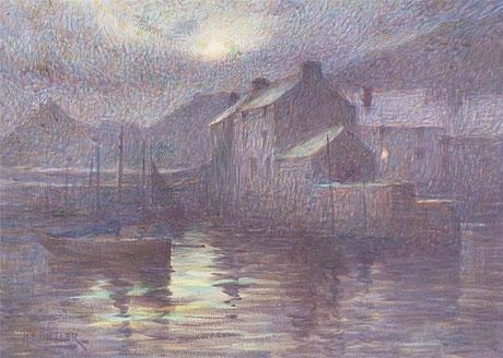 Herbert Butler 'Moonlight, Polperro'