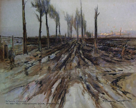 Borlase Smart  'The Somme Offensive, as seen from the Madagascar Dump, Arras Road' (Imperial War Museum)
