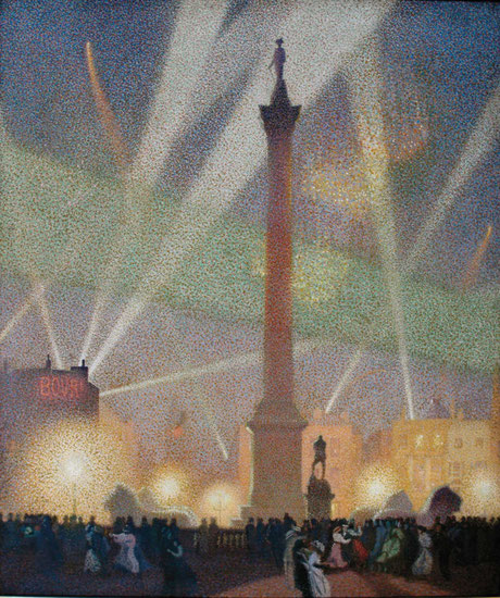 Claude Francis Barry  'Peace Night in Trafalgar Square'