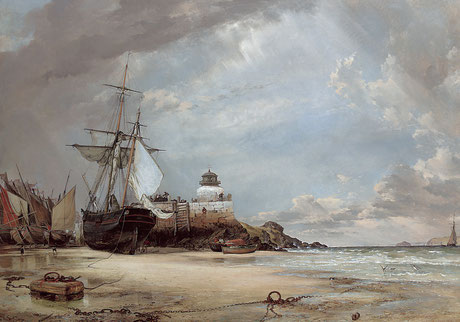 Edward William Cooke  'The Pier and Bay of St Ives, Cornwall'  (RA 1853)