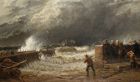 John Mogford  'A Break in the Clouds - Crossing the Bar - St Ives' (c.1873)