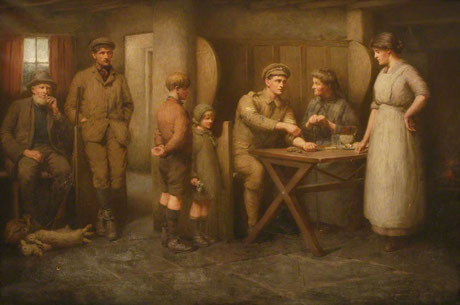 Herbert Butler 'The Homecoming' (Rowett Institute, Polperro, on loan to Royal Cornwall Museum, Truro)