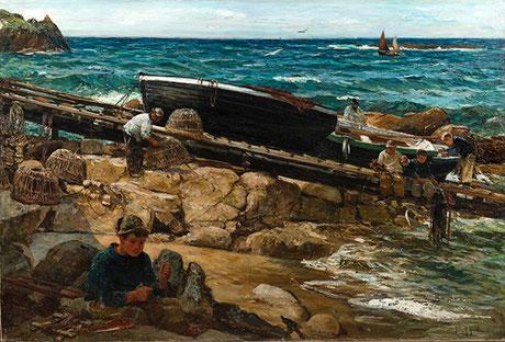 John Robertson Reid  'Fisherfolk, Polperro'