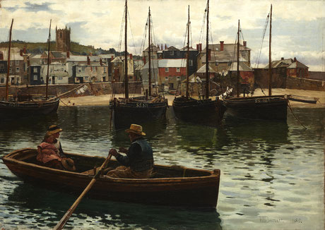 William Bartlett  'The Ferry, St Ives'  (1885)