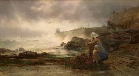 Richard Harry Carter  'The return of the missing boat, St Ives'  (RI 1883)