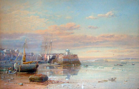 Samuel Phillips Jackson  'The Pier and Bay of St Ives'  (1861)