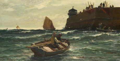Edwin Ellis  'St Ives Pier'  (Stockport Heritage Services - Art UK)