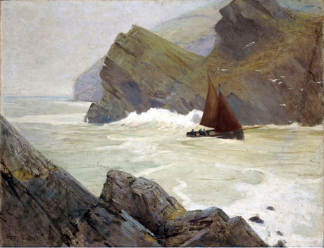 Henry Bayley Snell  'Entrance to the Harbour, Polperro'