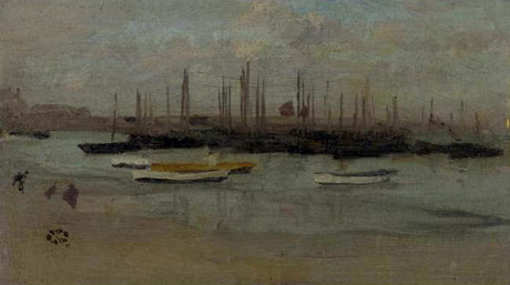 James McNeill Whistler  'Blue and Opal - The Fishing Fleet'  (1884)