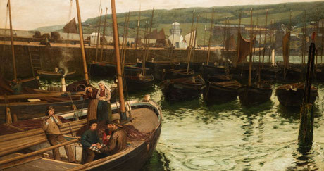 Charles Napier Hemy  'St Ives Harbour' (1871)