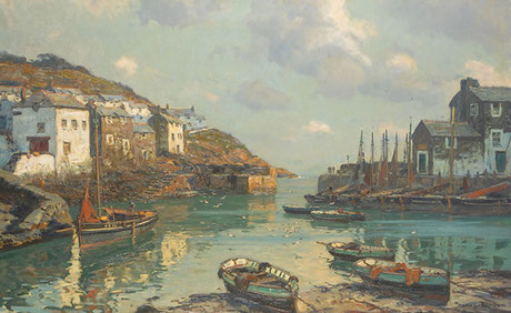 Claus Bergen  'Entrance to the Harbour, Polperro'