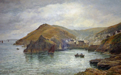 William Borrow   'Polperro' (RA 1885)
