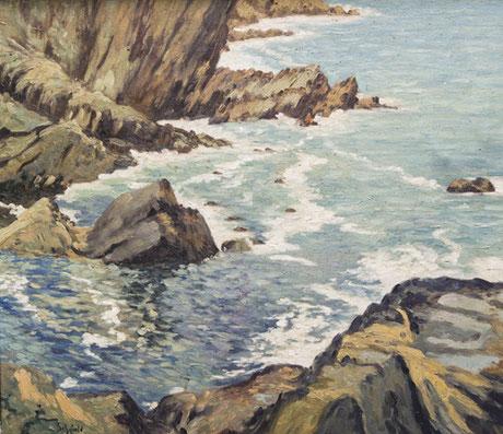 Elmer Schofield  'A Cornish Cove - Polperro'
