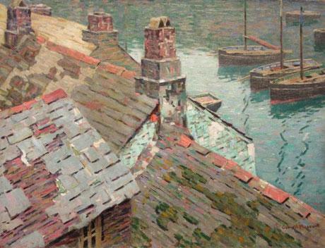 George Macrum  'Polperro Rooftops'