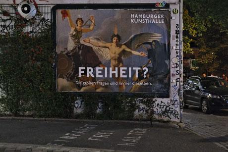 Andreas Maria Schäfer, Fotografiewelten, fotograph1956,Hamburg, Urban, Plakat, Werbung, Abstand, Museum, Kultur, Corona