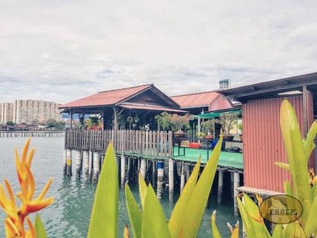 Holzhütte in Penang